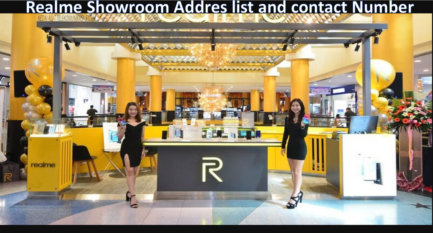 Realme showroom address list and contact number