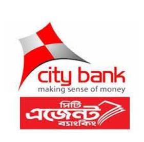 city bank agent banking logo