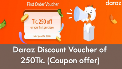 Daraz discount voucher of 250tk feature image