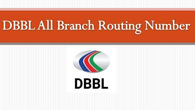 Dbbl All Branch Routing Number list
