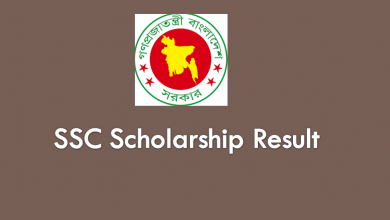SSC Scholarship Result 2020 of Education Board Bangladesh