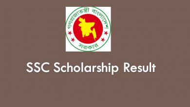 SSC Scholarship Result 2020 of Education Board Bangladesh