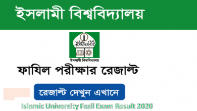 Islamic University fazil Exam Result 2020