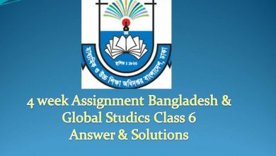 4 week Assignment Bangladesh & Global Studics Class 6