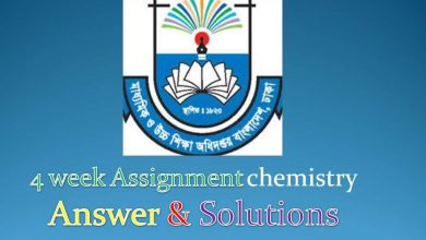 4 week Assignment chemistry Answer & Solutions