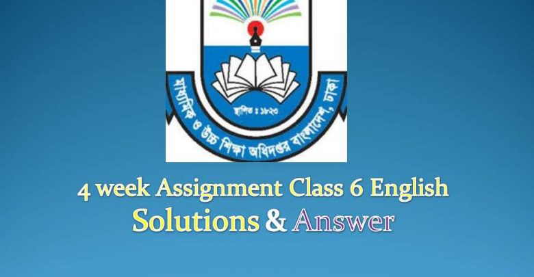 4 week Assignment class 6 Enalish Answer & Solutions