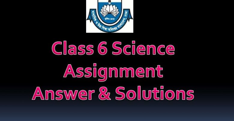 Class 6 Science Question Answer Assignment 5th week 2020