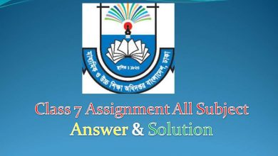 Class 7 Assignment all subject solution