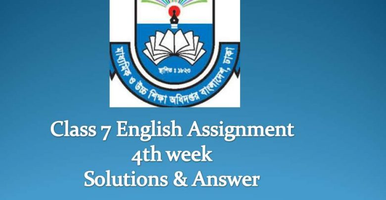 Class 7 English Assignment 4th week