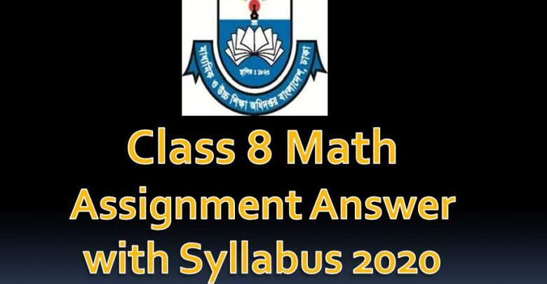 Class 8 math Assignment Syllabus with Solution