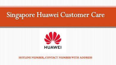 Singapure huawei Customer care details