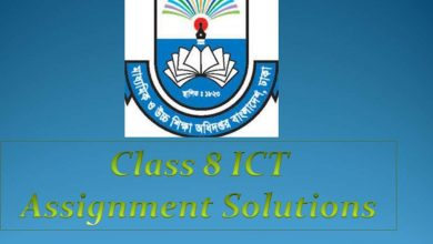 class 8 ict Assignment solution