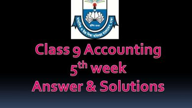 class 9 Accounting Assignment Answer with Syllabus 2020