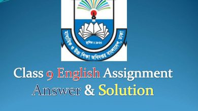 class 9 English Assignment Answer and solution