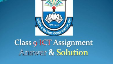 class 9 ICT Assignment answer & solution