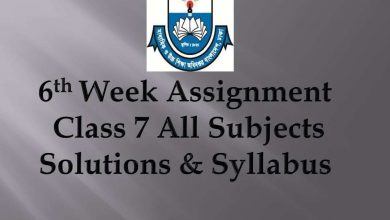 6th week Assignment Syllabus 7 class all Subject