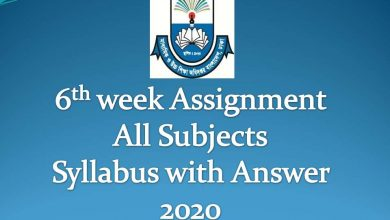 6th week Assignment Syllabus with Solution all Subject 2020
