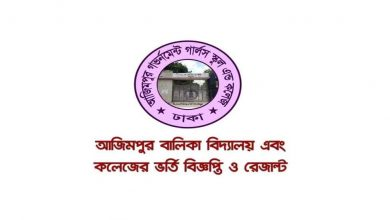 Azimpur Govt. Girls High School Admission Results and Circular