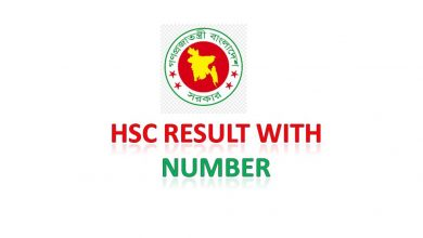 HSC Result with Number [All Board]