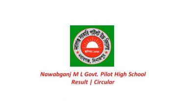 Nawabganj M L Govt. Pilot High School Admission Results & Circular 2021