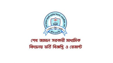 Sheikh Jamal Government Secondary School Admission Results and Circular 2021