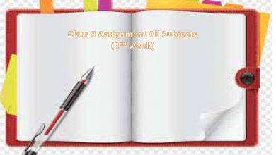 Class 9 Assignment Answers All Subject 2021 [2nd Week]