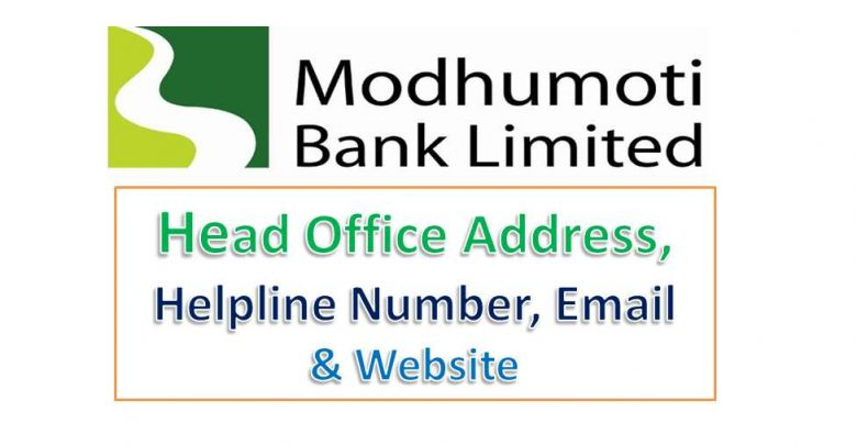 Modhumoti Bank Helpline Number, Email, Swift Code & Head office Address
