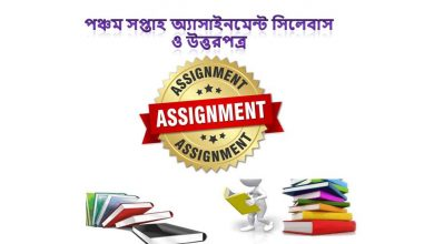 5th Week Assignment Syllabus & Answer 2021