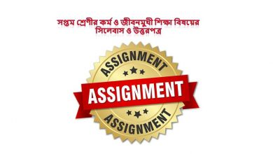 5th week Class 7 Work and Life Oriented Education Answer & Syllabus 2021