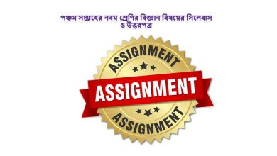 Class 9 Science Assignment Answer 2021 for 5th week