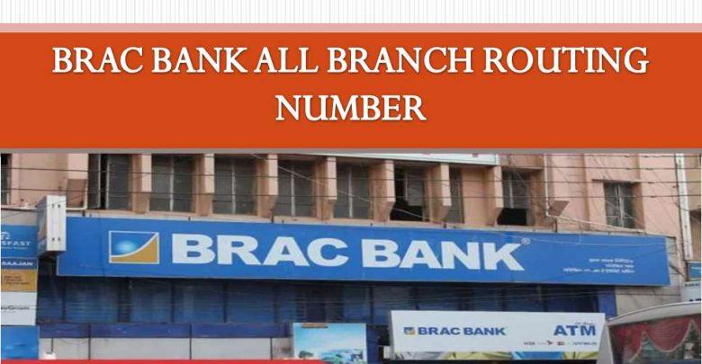 BRAC Bank All Branch Routing Number of Bangladesh