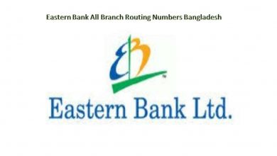 Eastern Bank All Branch Routing Numbers Bangladesh